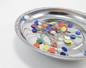 Pin Bowl | 6 inch Magnetic Pin Bowl, Metal Pin Bowl, Pin Cushion, Longarm