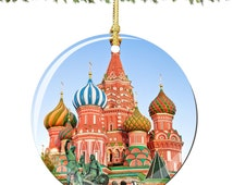 St. Basil's Cathedral Porcelain Christmas Ornament