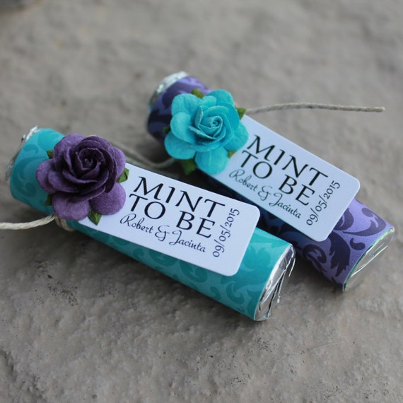 Online Gifts For Wedding: Items Similar To Teal And Purple Wedding Favors
