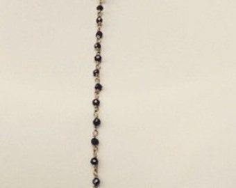 Half moon half rosary style necklace