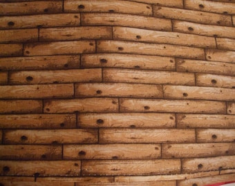 Bamboo, Wood planks or Logs You decide Fat quarter 100% cotton Fabric