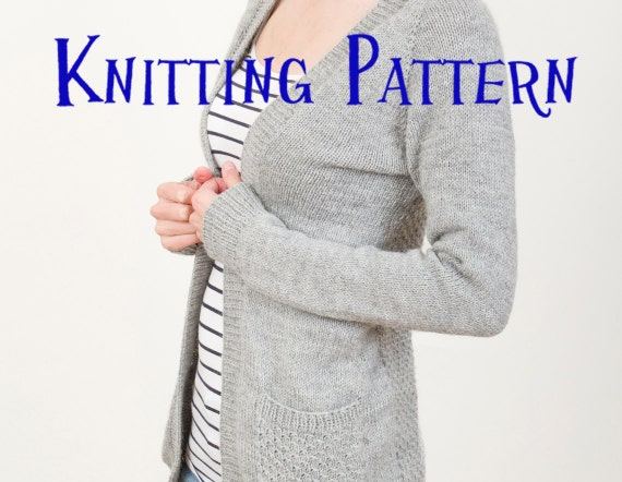 PDF Knitting Pattern - Greystone Cardigan, Cardigan Knitting Pattern, Ladies ...