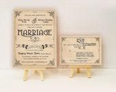 Art Deco Wedding invitations - Gatsby art nouveau Manifesto set {Lafayette design}