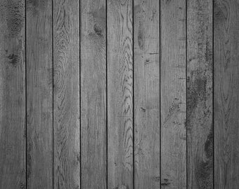 Natural Gray Grunge Wood - Vinyl Photography Backdrop Floordrop Prop