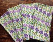 Cloth Napkins Set of 4 modern floral printu ss