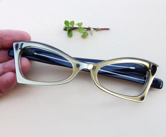 montatura occhiali vintage francese anni 50 cat eye pin up
