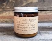 Coconut Deodorant Cream - All natural, aluminum free, natural deodorant cream, 4.75 oz