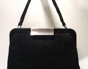 Black Cloth Miu Miu Bag Black Vintage Designer Handbag Small Miu Miu Purse Designer Evening Bag