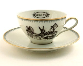 set 2 mary poppins recycled espresso tasse von morethanporcelain. Black Bedroom Furniture Sets. Home Design Ideas