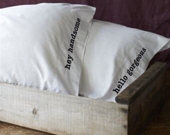 Pillow Talk Embroidered Pillow Cases