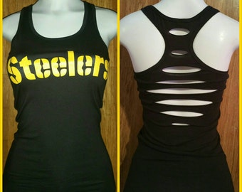 Sport's Cut Up Racer Tank - Pittsburgh