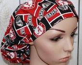 Alabama,Bouffant Women's Scrub Hat, Surgical Scrub Hat, OR Nurses Scrub Hat, Scrub Cap