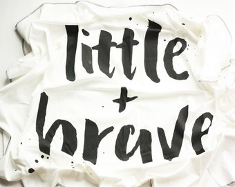 Little + Brave Swaddle Blanket // Baby Shower Gift // Baby Girl Gift // Newborn Swaddle Blanket// Baby Blanket