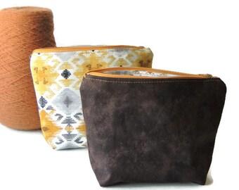 Modern Cosmetic Bags - Stain Resistant - Makeup Bag Set - Aztec Print