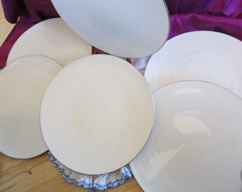 Lenox Olympia Platinum Dinner plates, Lenox Wedding china,  Like New, 6 included