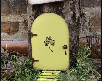 Irish Fairy Door, St Patricks Day, Fairy Door, Fairy Garden, Garden Decor, Green, Birthday, Lucky, Clover, Gifts for her, Unique, Mothers