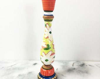 Hand Painted Candlestick
