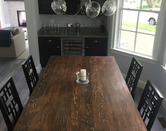 Farmhouse style trestle table