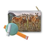 Clutch Bag Zippered Pouch haflinger horse palomino chestnut avelignese