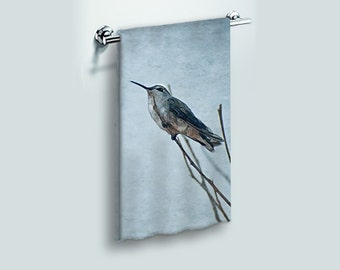 Large Bath Towel Beach Towel Resting Hummingbird