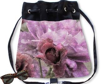BOHO Backpack Purse Dusty Pink Rose