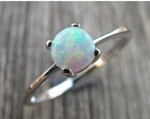 SALE Opal Ring- Silver Opal Ring-Silver Ring- Stone Ring- Rings- White Stone Rings-Gemstone Rings- Gifts for Her