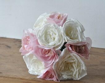 Paper flower wedding Bouquet,  alternative bouquet, summer wedding bouquet