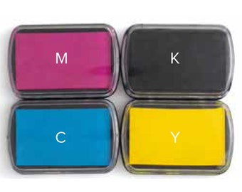 PRECISION PReSS - CMYK INK PADs  by We R MeMORY KEEPERs - Layering Stamps - PReOrder Now !!