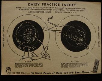 Vintage Daisy Double Air Rifle Target