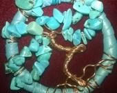 Tree of Life assorted gemstones,Turquoise,Amazonite,Aquamarine,Kyanite,Lapis Keyring,Purse Charms,Keychain,Backpack Charm