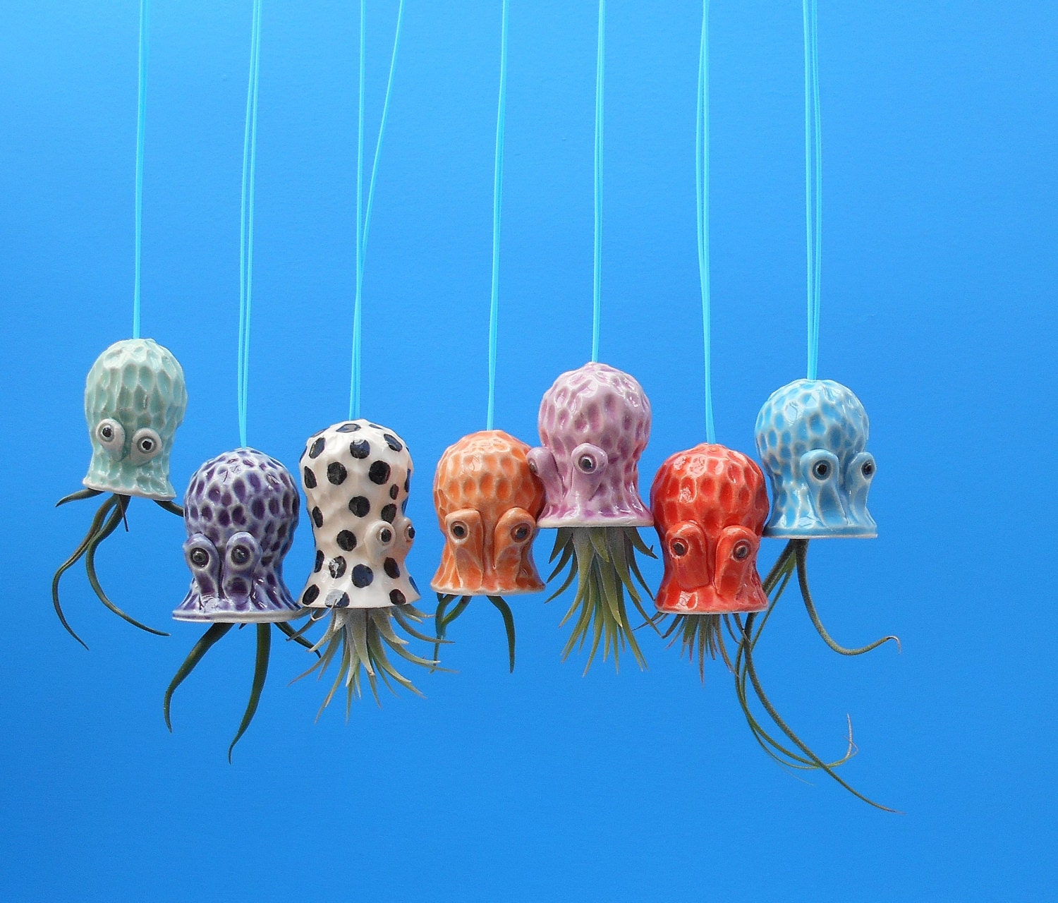 Hanging Mini Pebbled Octopus Air Planter Window by ... - photo#48