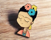 ICON | Frida Kahlo Enamel Lapel Pin