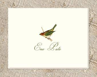 Bird Lover Stationery - 25 folded notes & envelopes; Personalized Bird Notes; Personalized Stationery;  Bird Stationery and Envelopes