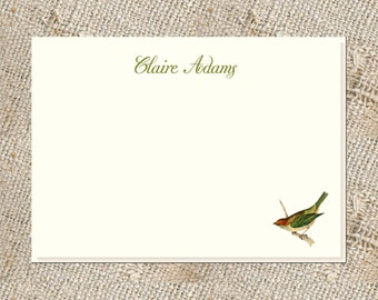 Bird Lover's Stationery - 25 Note cards & envelopes; Personalized Bird Notes; Personalized Stationery;  Bird Stationery and Envelopes
