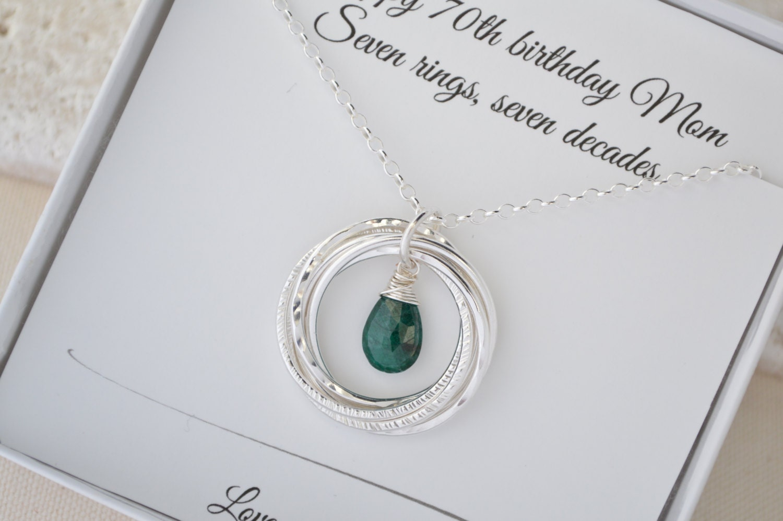 Emerald Wedding Anniversary Gifts: 70th Birthday Gift For Mom And Grandma, Emerald Birthstone
