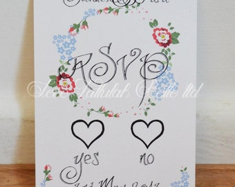 Pretty Flowers RSVP Card