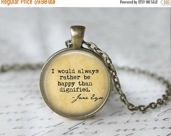 Jane Eyre Necklace - Book Necklace - Book Quote Necklace - Literary Quote Necklace - Custom Necklaces - Custom Quote Necklaces - Book Lovers