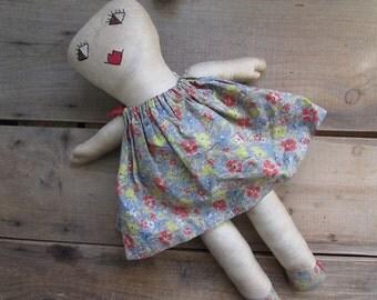 Vintage Primitive Doll Handmade Antique Rag Doll