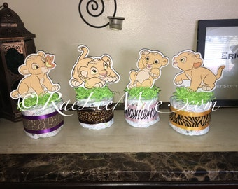 Baby Nala Lion King Diaper Cake Minis- Nala/Lion King Baby Shower/Nala Decorations/ Lion King Theme/nala Baby Shower