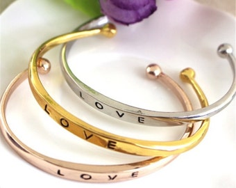 LOVE / BFF Bangle Bracelet - Best Friend Bracelet