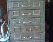 Industrial Shaw Walker File Cabinet