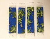 CLEARANCE! 2 Sets (4) Fridge Handle Covers, Cotton, Palm Tree, Blue
