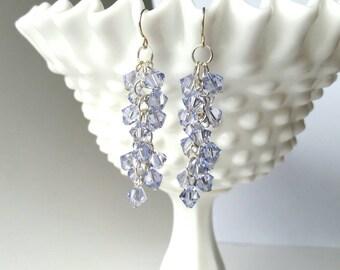 Lavender Swarovski Crystal Earrings