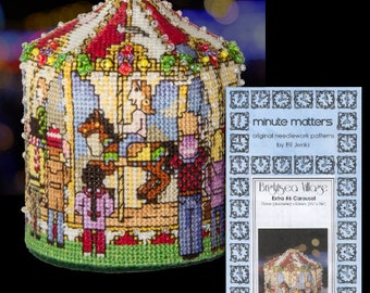 Carousel 3D Cross Stitch Pattern BrightSea Village Extra #6 by Elli Jenks