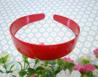 5 pcs  red color plastic headband 25mm wide