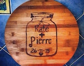 Personalised Love Jar Pyrography Cutting Board