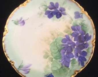 Haviland Handpainted Bread and Butter Plate