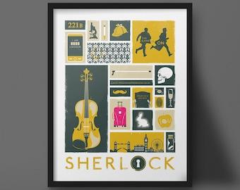 Sherlock Poster Art Modern Design Print