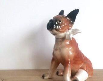 Vintage Boxer in Bandages Ceramic Figurine