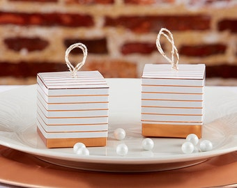 Copper wedding favors, Personalized Favor Boxes, candy favor boxes, Bridal Shower Favors, Copper Favors